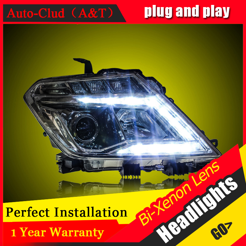 Car Styling For Nissan patrol led headlights 2014-16 For patrol head lamp Angel eye DRL front light Bi-Xenon Lens xenon HID KIT union car styling for renegade headlights for renegade hid head lamp angel eye led drl front light for jeep renegade hid lamp