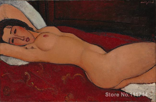 Portrait Paintings reclining nude Amedeo Modigliani High quality Hand painted