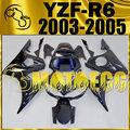 Motoegg Injection Mold Fairings Fit YZFR6 YZF R6 03-05 Dark Blue Black #Y64M50!
