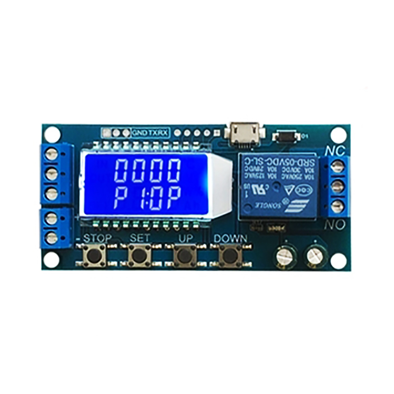 цена на Micro USB Digital LCD Display Time Delay Relay Module 6-30V Control Timer Switch Trigger Cycle Module Timing Circuit Relay