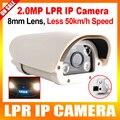 2-МЕГАПИКСЕЛЬНАЯ 1080 P Транспортных Средств Распознавания Номерных знаков LPR Ip-камеры С 4 Шт. ИК Белый Свет LED, 8 мм Fixd Объектив, Водонепроницаемый IP66