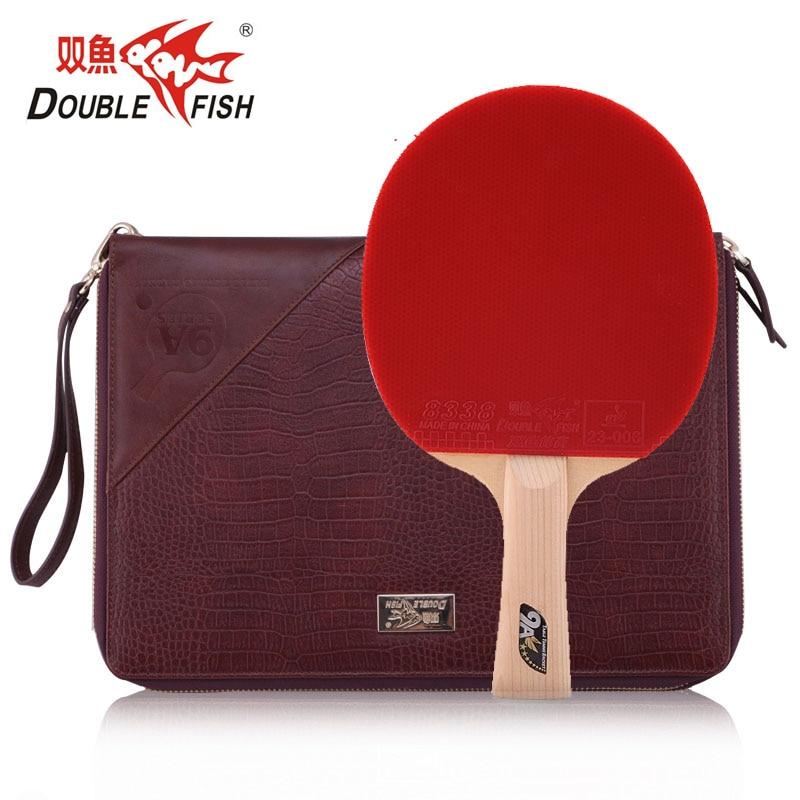 Original Double Fish 9A 9stars Cypress Carbon Fiber Table Tennis Bat Pingpong Racket with quick attack