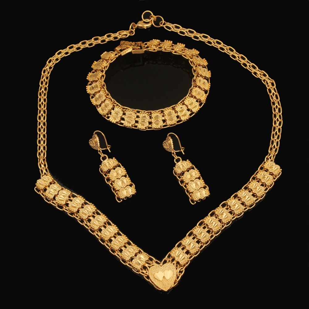 Traditional ethiopian wedding jewelry sets gold filled for Gold filled jewelry