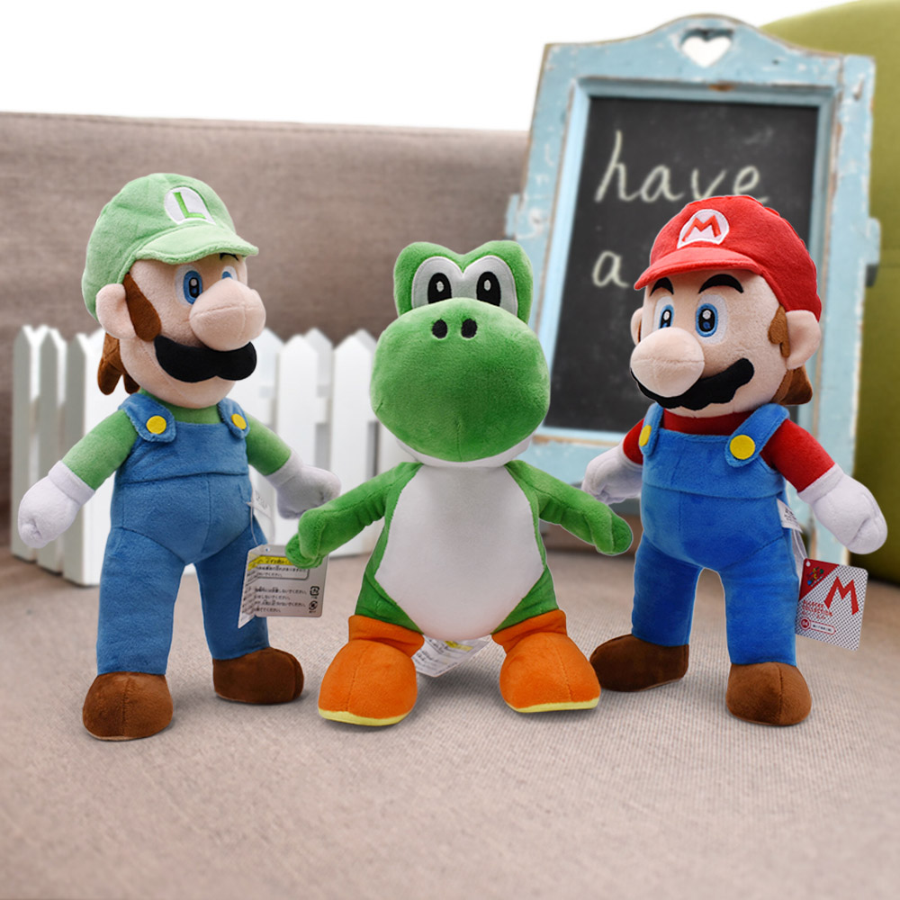 15-41cm Super Mario Bros Plush Toys Yoshi Goomba Stuffed Animals Soft Toy Doll Birthday Gifts Kids Children Peluches De Animales