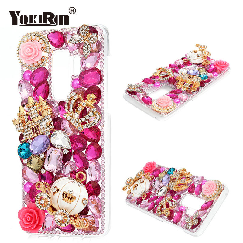 US $5 09 27% OFF|YOKIRIN Diamond Case For Samsung Galaxy S9 Rhinestone  Phone Cases Bling 3D Handmade Hard PC Crystal Cover For Samsung Galaxy  S9-in