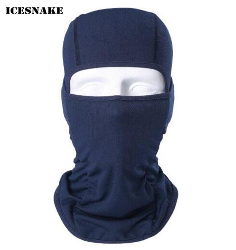 ICESNAKE Moto Coupe-Vent Masque À Séchage Rapide Respirant Anti UV Doux Visage Masque Vélo Masque facial Balaclava Hat
