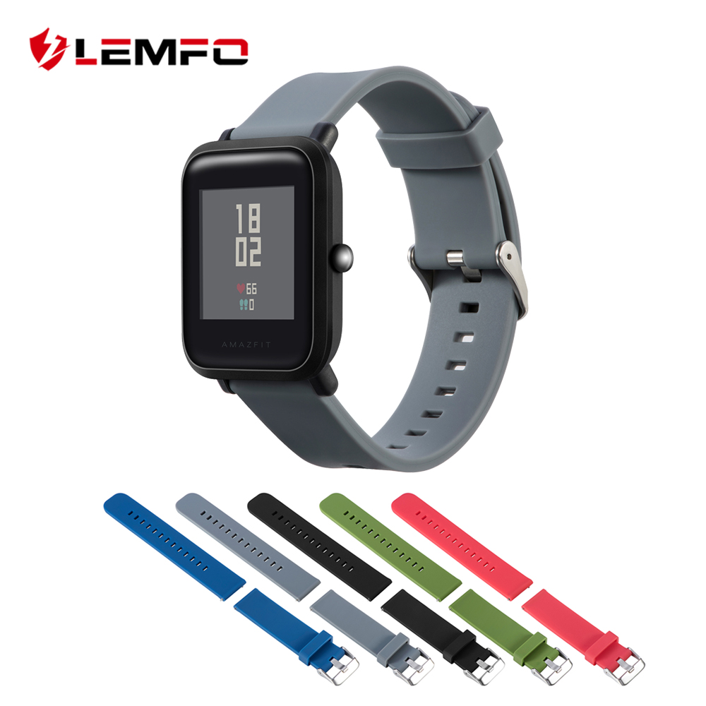 LEMFO Smart-Accessories Amazfit Replacement-Band Sport-Bracelets Silicone-Strap for Xiaomi