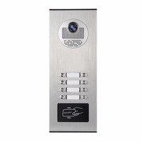 YobangSecurity Metal Aluminum Outdoor RFID Access Control Doorbell Camera For 8 Units Apartment Video Intercom Door