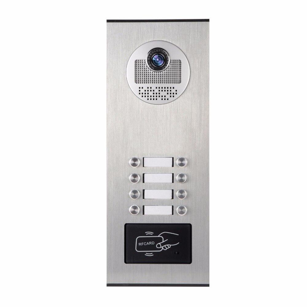 YobangSecurity Metal Aluminum Outdoor RFID Access Control Doorbell Camera For 8 Units Apartment font b Video