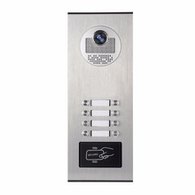 YobangSecurity Metal Aluminum Outdoor RFID Access Control Doorbell Camera For 8 Units Apartment Video Intercom Door Phone System