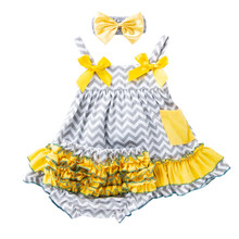 6-24M Baby Girl Dress/Clothes 1st Birthday Dress Clothes Spring/Summer Dresses Cotton Print Floral Sets