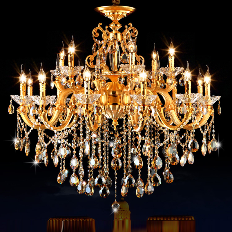 Gold Chandelier Classic LED Crystal Chandeliers Ceiling Living Room Chandelier Lighting Modern Lighting Fixture Chandeliers modern hanging chandelier lighting living room dinning crystal chandelier led lights chrome chandeliers modern crystal lighting