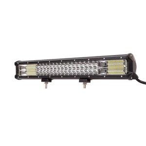 """Image 2 - Barres lumineuses de travail lampe LED tout terrain/288W, 9 34 """", puissance lumineuse LED pour tracteur, bateau, 4WD, camion, 4x4, SUV, ATV"""