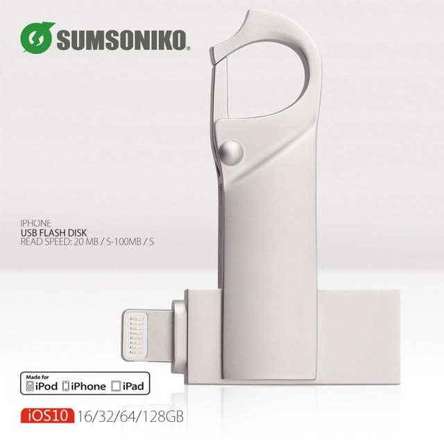 Usb flash drive pendrive para iphone ipad para regalo pen drive de almacenamiento externo usb 2.0 128 gb 64 gb 32 gb 16 gb palo