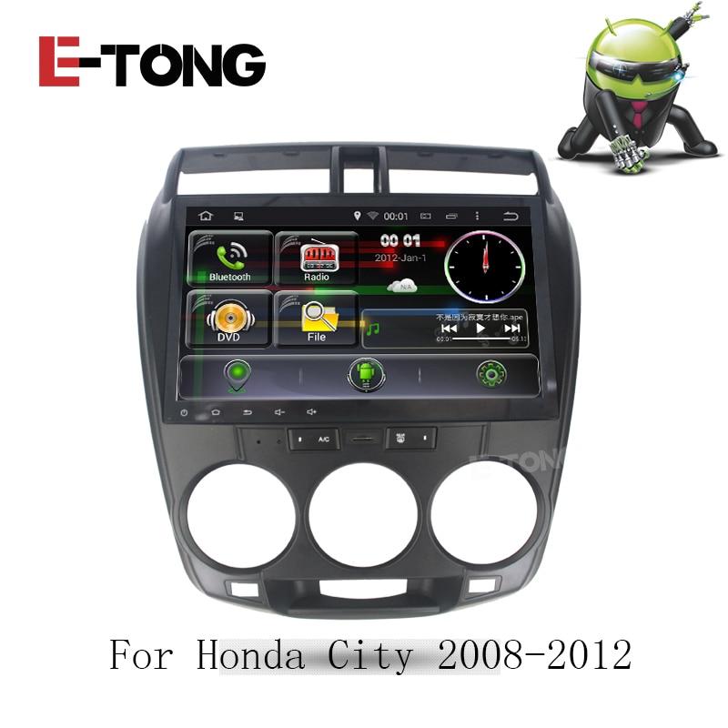 Para La Ciudad de Honda 2008-2012 táctil Android 4.4 Quad Core GPS Autoradio Dvd