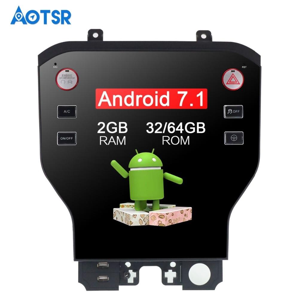 11.8 Tesla Style Android7.1 Voiture Sans lecteur dvd navigation gps Pour Ford Mustang 2015 2016 2017 Stéréo Satnav WIFI unité multimedi
