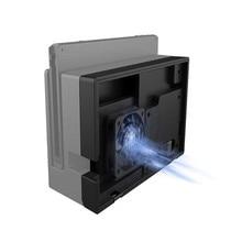 Nintendo anahtarı Dock soğutucu soğutma fanı Nintendo anahtarı için TV Dock Nintendo USB harici sıcaklık kontrol hava akımı