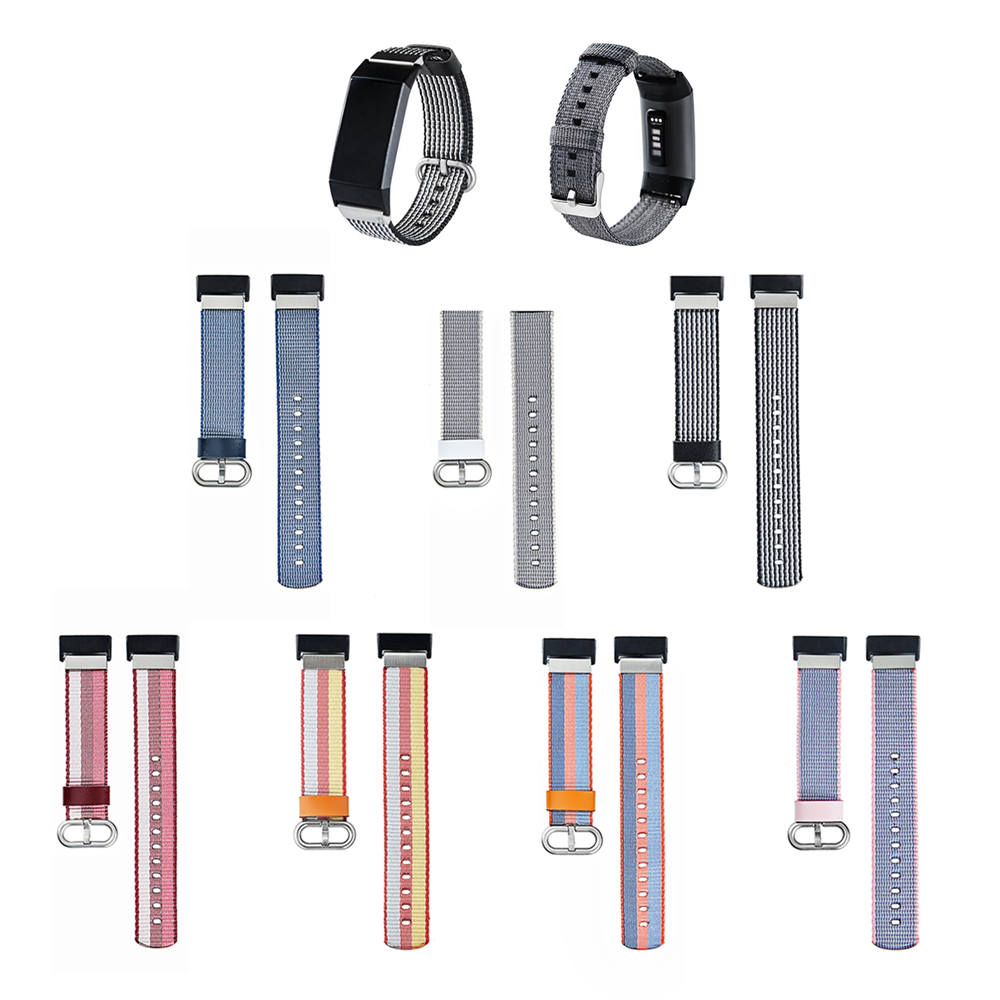 Nylon Strap Fabric Wristband Strap For Fitbit Charge 3 Replacement Bracelet Wristband For Fitbit Charge 3 Band Straps Accessory