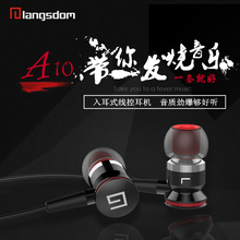 A10 in ear earphones metal bass wired earbuds for computer earpieces for mp3 general earplug for mobile phone for iphone 7 6s 5