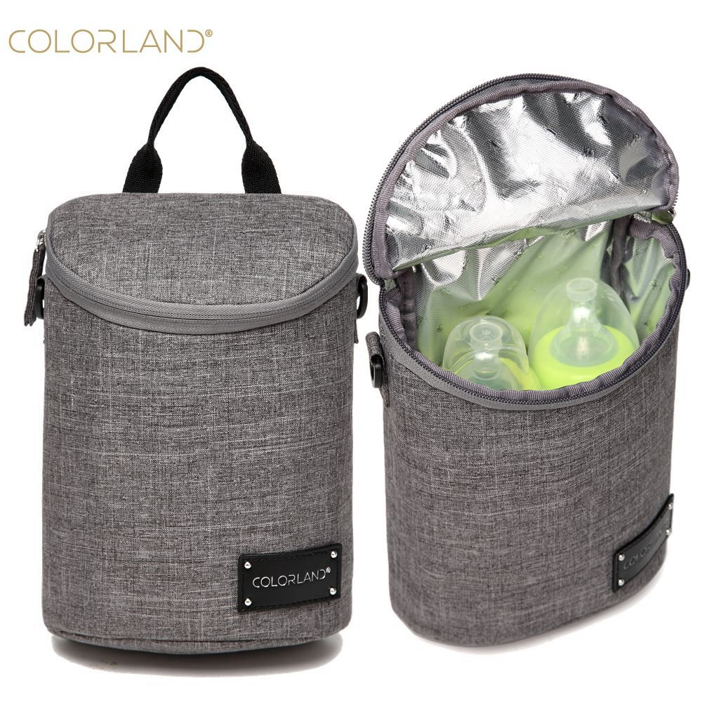 COLORLAND Infant insulation Thermos Lunch Bags Mamadeira Waterproof Baby Bottle Holder Food Storage Tote bag Hobos|baby bottle holder|baby food holder|baby bottle storage - title=
