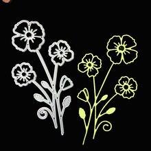 Металлические вырубные штампы с цветком сливы для «сделай сам»