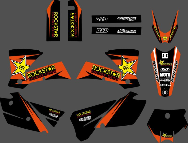 0295 Star NEW TEAM GRAPHICS WITH MATCHING BACKGROUNDS For KTM SX 125 200 250 300 450