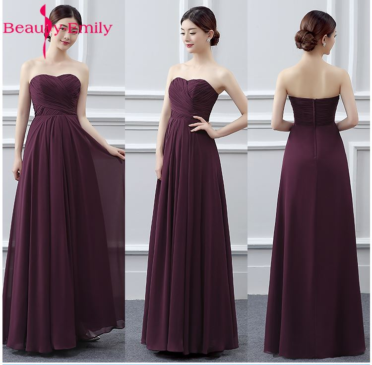 Bridesmaid     Dresses   Vestidos de madrinha de casamento Sleeveless Floor-Length Party Prom   Dresses