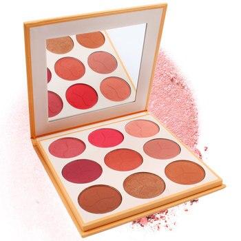 c2a01ab4e 9 colores naturales Blush paleta Base mejilla maquillaje colorete cara  pigmento contorno rubor producto de belleza cosméticos en polvo de melocotón
