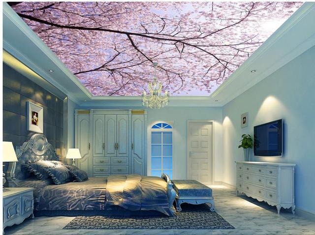 aesthetic landscape ceiling murals ceilings fresco wallpapers mouse