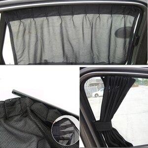 Image 4 - 1Set  Universal Black Mesh Interlock VIP Car Window Curtain Sunshade Visor UV Block