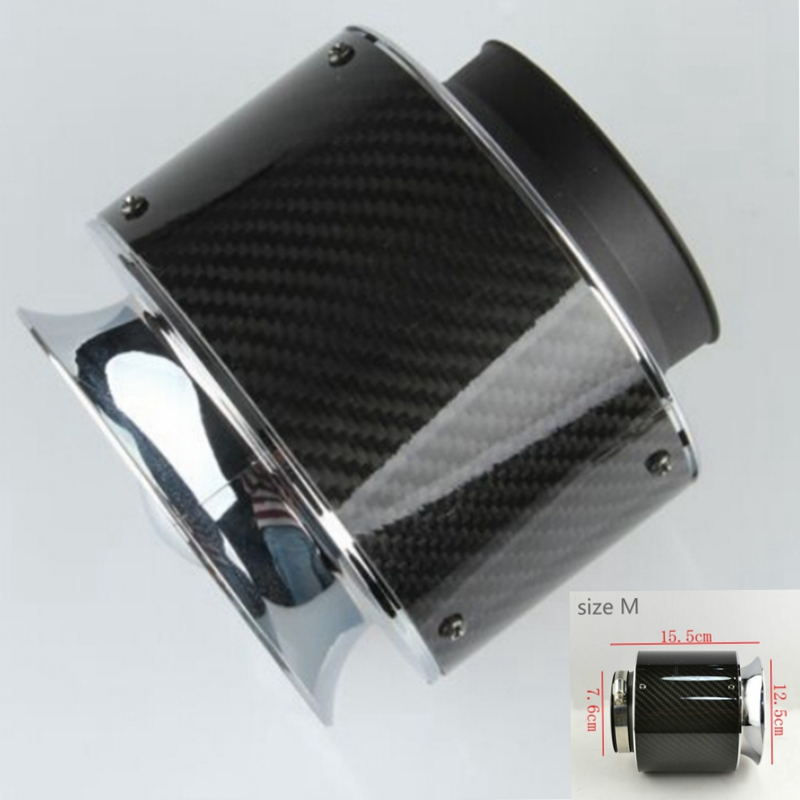 Universal Racing Carbon Fiber pipe Cold Feed Induction Kit Air Intake Kit Air Filter Box For vw golf 4 5 Opel Toyota chevrolet universal racing carbon fiber cold feed induction kit carbon fiber air intake kit air filter box with fan