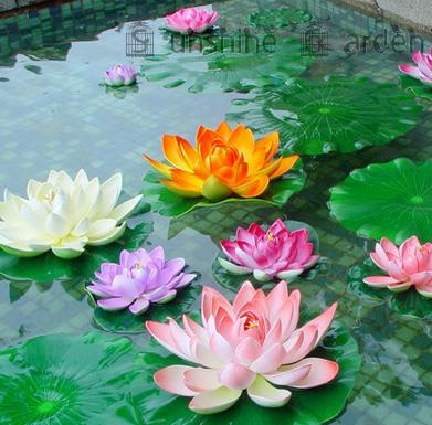 Aliexpress buy bouquet artificial lotus silk flower home party bouquet artificial lotus silk flower home party decoration floral art for water fish tank decor lifelike mightylinksfo Images