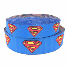 ZERZEEMOOY wholesale 5/8″ 7/8″ 16mm 22mm 10yards/lots Polyester superman Woven Jacquard Ribbon For Dog Collar