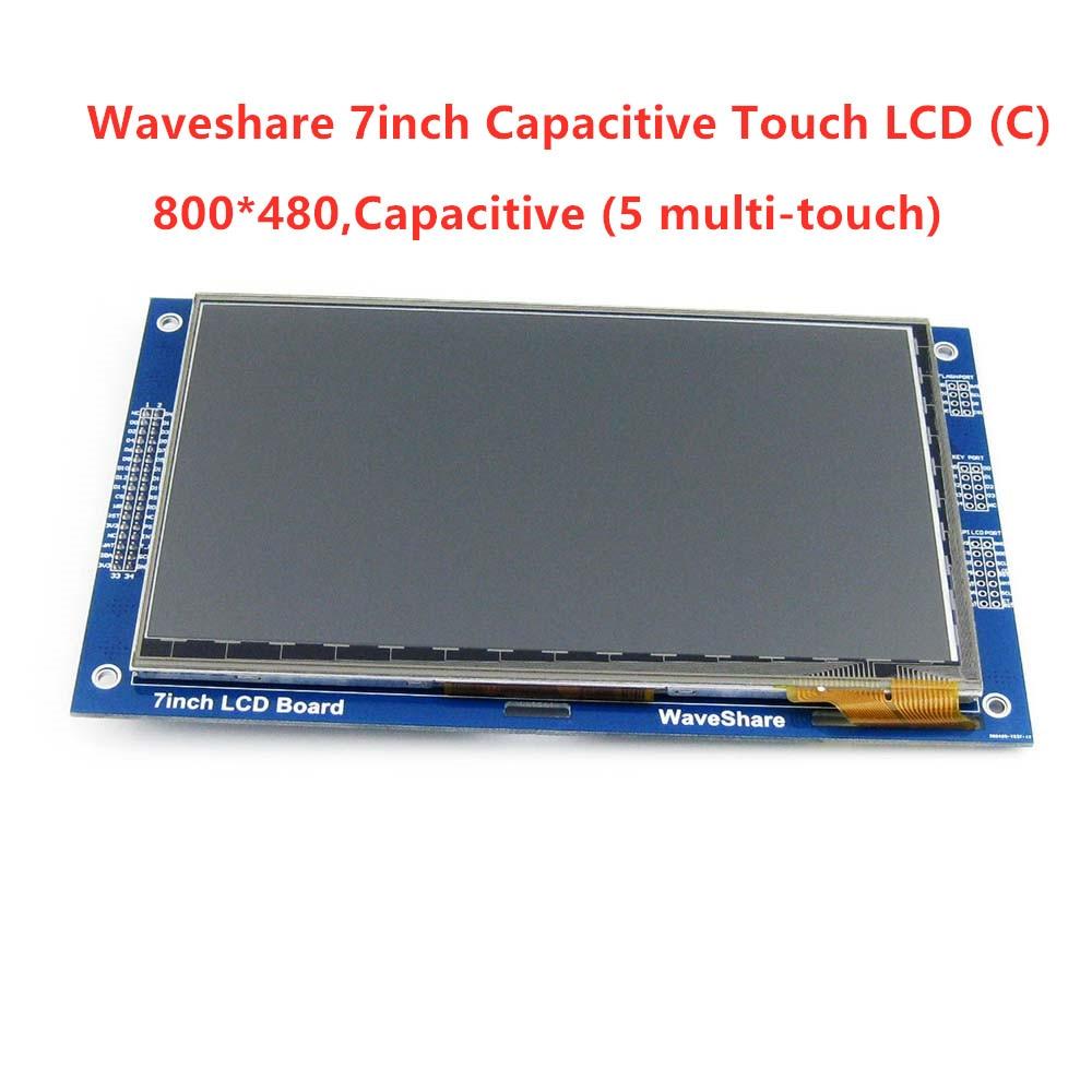 7 pouces Capacitif Tactile LCD (C) 800*480 Pixel Multicolore Graphique LCD, TFT I2C Écran Tactile Affichage Module Intégré 10KB ROM