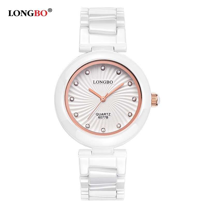 2016  New Luxury LONGBO Brand Women Ceramic Watch Ladies Relogio Feminino Fashion Casual Montre Femme 30M Waterproof Wristwatch