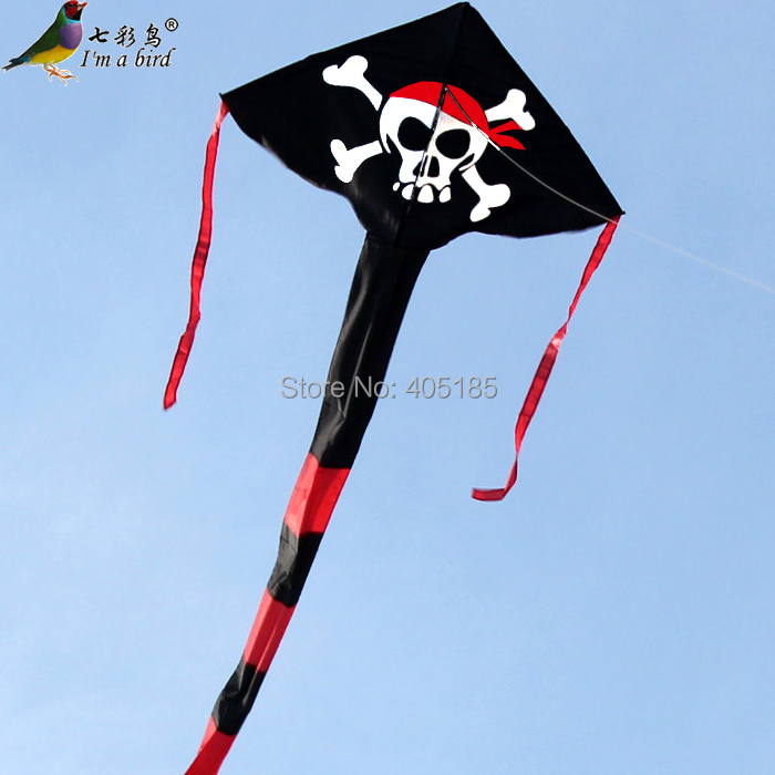 Free Shipping Outdoor Fun Sports Pirate Triangle Kite Flying Factory Outlet