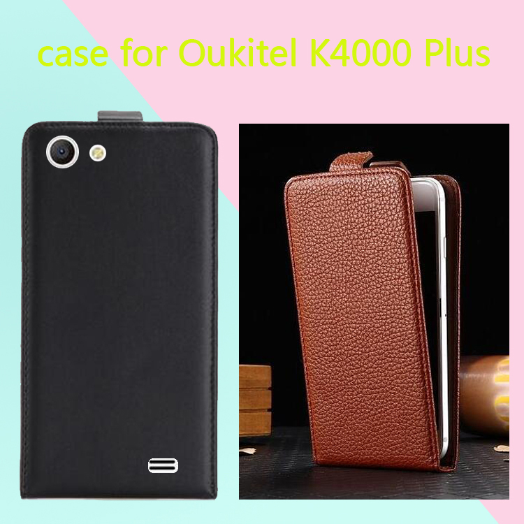 Newest Luxury Classic flat texture lychee texture PU Leather Up and Down 100% Special Flip case cover For <font><b>Oukitel</b></font> <font><b>K4000</b></font> Plus image