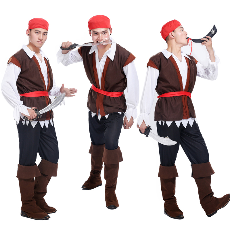 halloween masquerade adult pirate costume cos role playing pirates of the caribbean captain jack sparrow pirate costume - Jack Sparrow Halloween Costumes