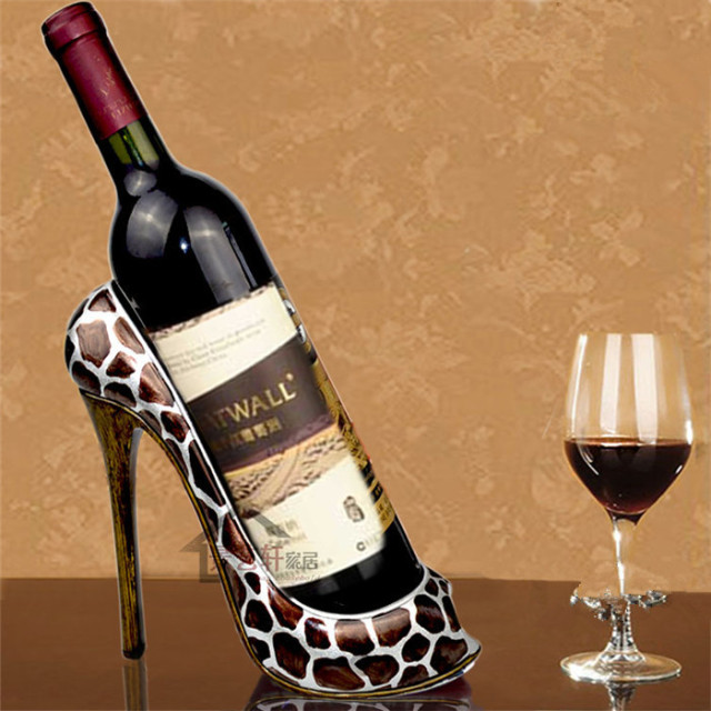 Decorative Wine Bottle Holders Alluring Aliexpress  Buy Redwhite Creative Resin Decorative Wine Design Inspiration