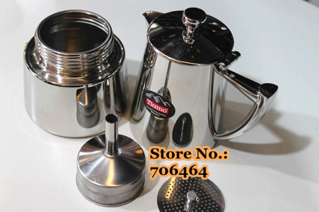 The Best Price 4 Cups High Quality Tiamo Stainless Steel Mocha Coffee Maker Moka Pot