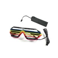 Sound Music Voice Activate 6 Color 7 Color Led Glasses El Wire Led Shutter Glasses Multicolor
