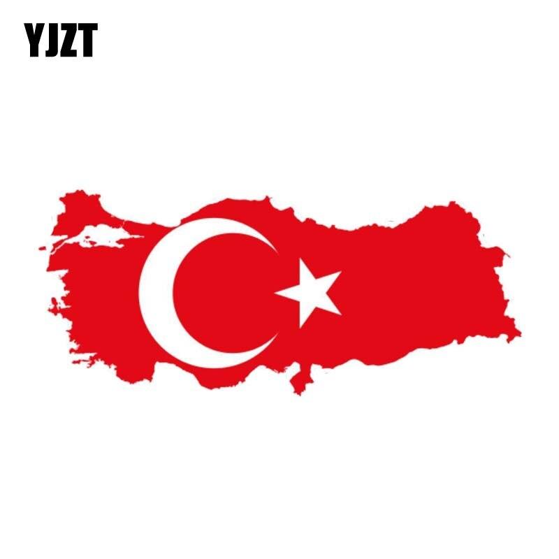 YJZT 15.6CM*6.5CM Creative Turkey Car Sticker Flag Creative Map Decal Car Styling 6-0908