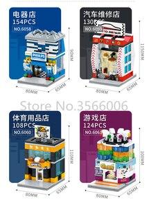 Image 4 - واحد بيع شارع صغير سلسلة كعكة متجر خدمة مركز الحي الصيني اللبنات التعليمية MOC مجموعات نماذج للطفل