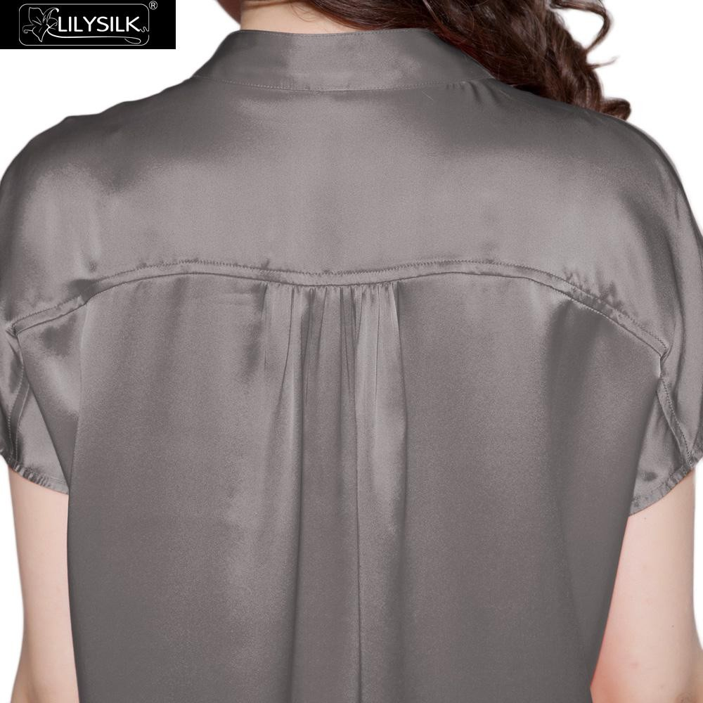1000-dark-gray-22-momme-half-buttoned-front-silk-pyjamas-set-02