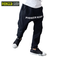 Pioneer Camp Kids 2017 Super Quality Boys Pants Cotton Casual Children Clothing Letter Pockets Kids Sports