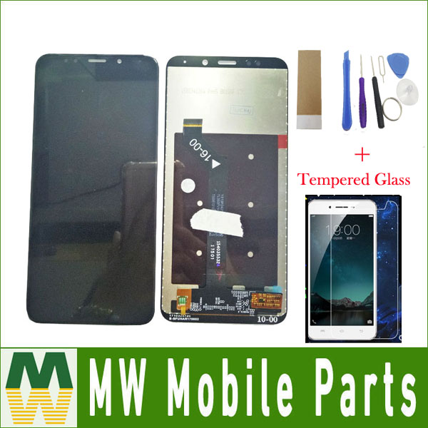 1PC /Lot 5.99For Xiaomi Redmi 5 Plus LCD Display+Touch Screen Digitizer Assembly Black White Color with kit