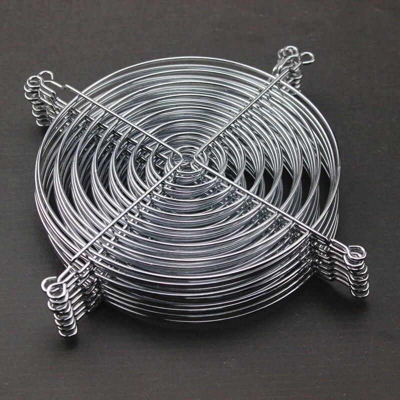 50 Pieces Gdstime 14cm Fan Iron Net Steel Chrome Metal Computer PC Fan Grill Guard Protection