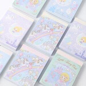1 sztuk Cartoon syrenka księżniczka zamek wróżka tęczowa opaska jednorożec miękkie etui notatniki Mini notatnik pamiętnik kieszonkowy notatnik papiernicze