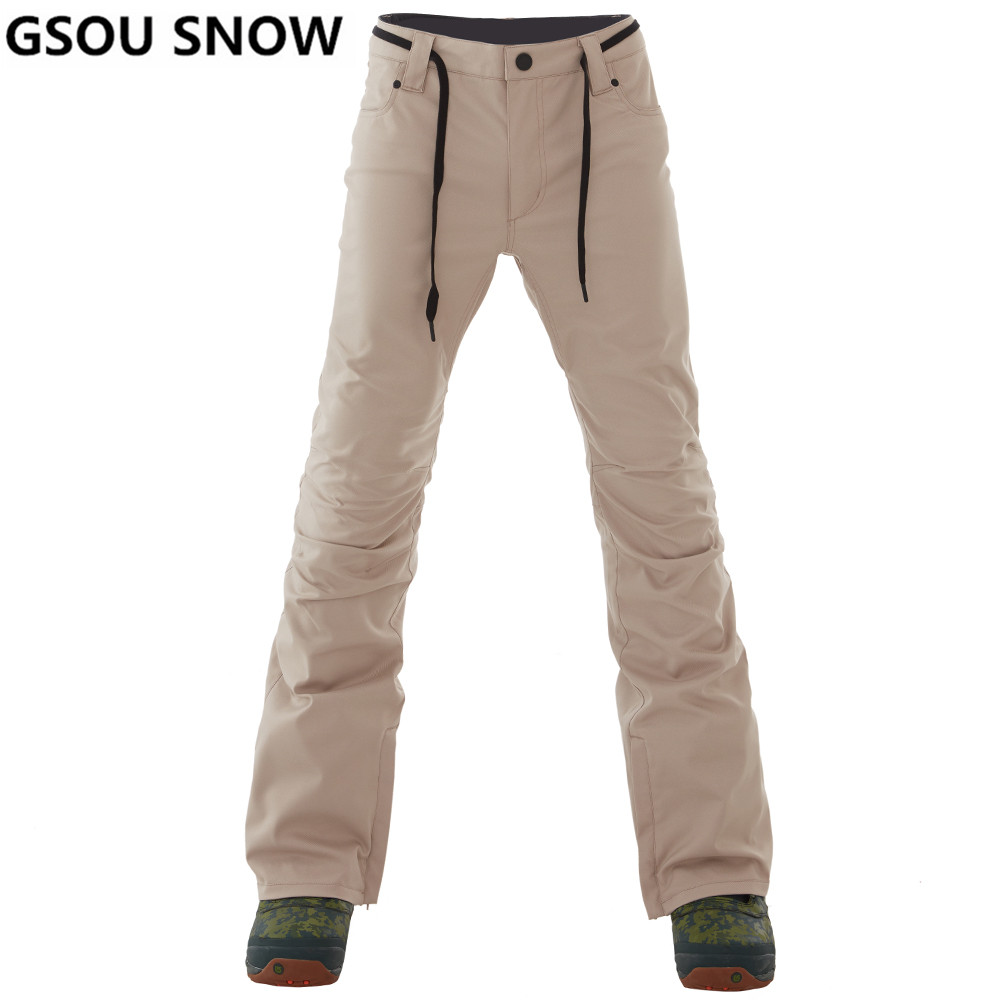 все цены на GSOU SNOW Brand Ski Pants Men Waterproof Ski Trousers Winter Outdoor Snowboarding Pants Thicken Warm Skiing Snowboarding Male