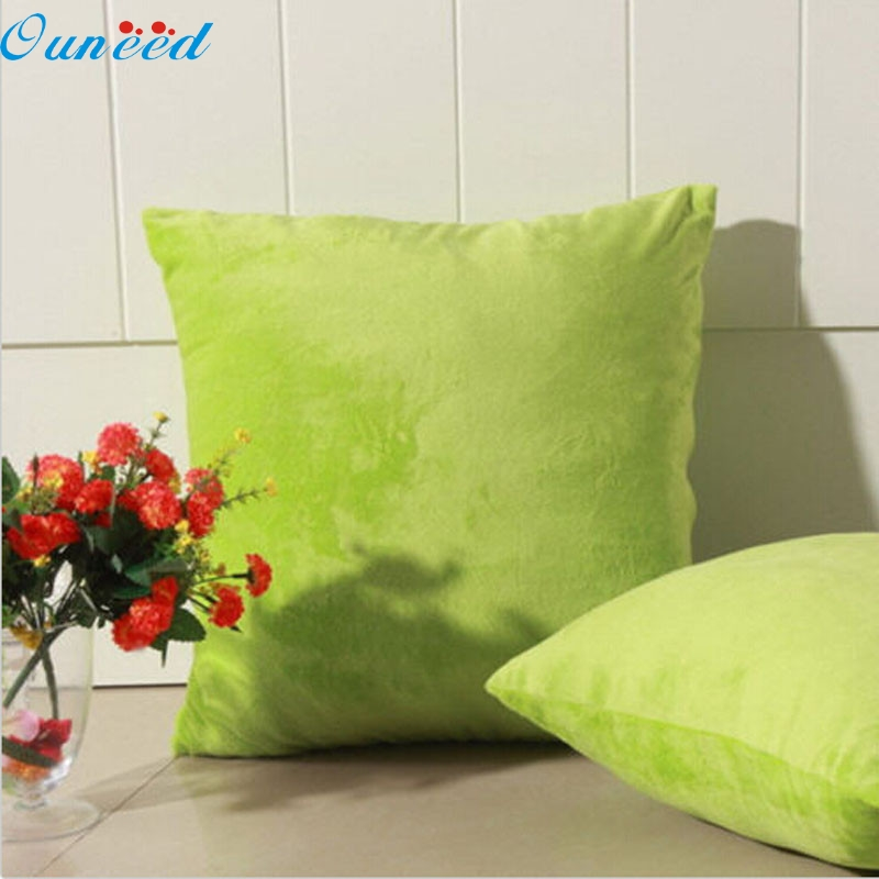 fashion homey linen square square pillow cover suede nap cover home couch throw pillow case